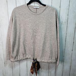 Zara Basic Lightweight Cropped Sweater Knit Tan